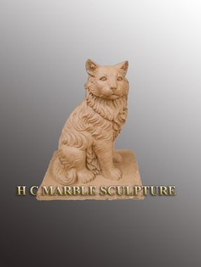 Custom Made Custom Marble Cat Sculpture