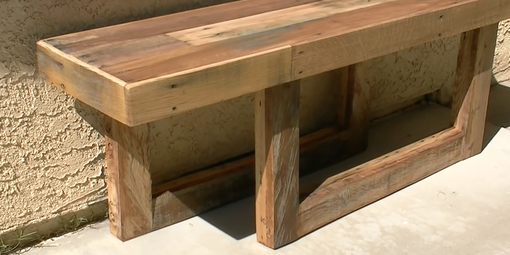 Custom Made Pallet Wood Patio Bench