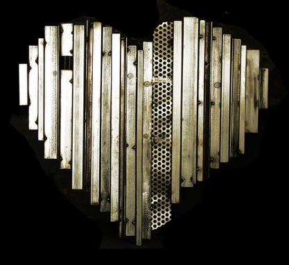 Custom Made Heart Of Steel Metal Sculpture