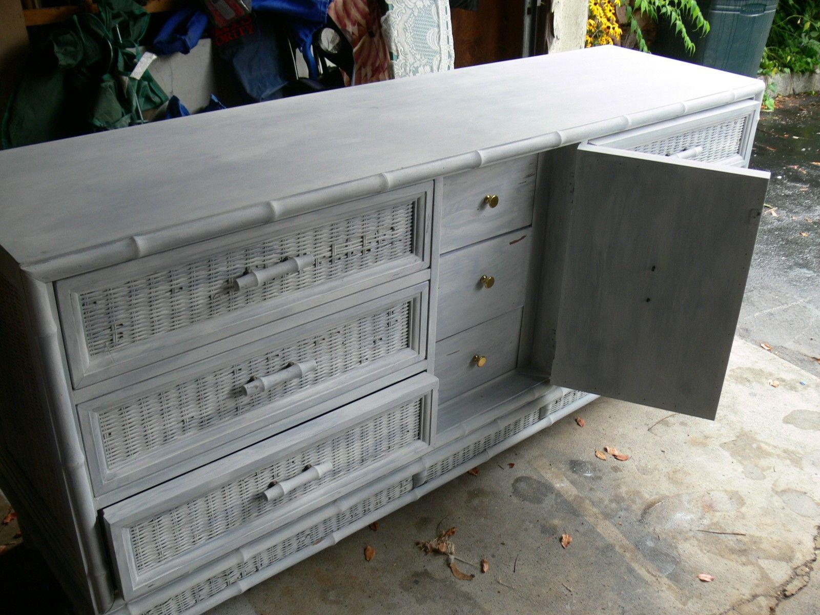 Painting Wicker Dresser Ideas - Painting