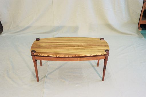 Custom Made Zebrawood Coffee Table