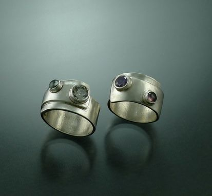 Custom Made Fine Silver Two Stone Ring