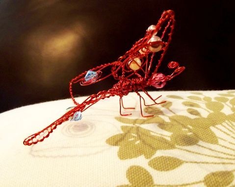 Custom Made Wire And Beaded Butterfly