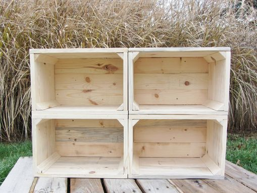 Custom Made Small Wood Crate Stackable Made From Reclaimed Wood Pallets Set Of 4 Crate Set