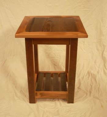 Custom Made Barnwood End Table