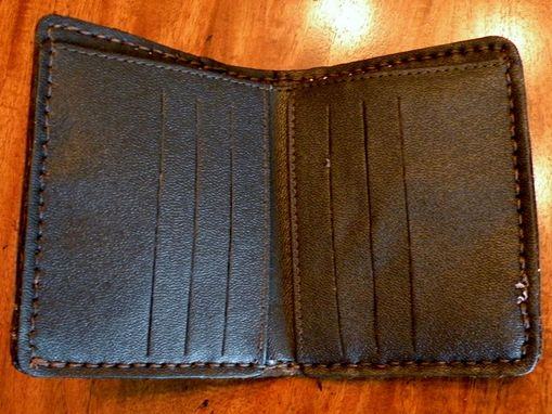 Custom Made Wallet With Python Skin Inlays