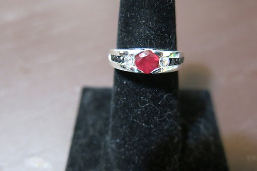 Custom Made Knife Edge Cathedral Engagement Ring