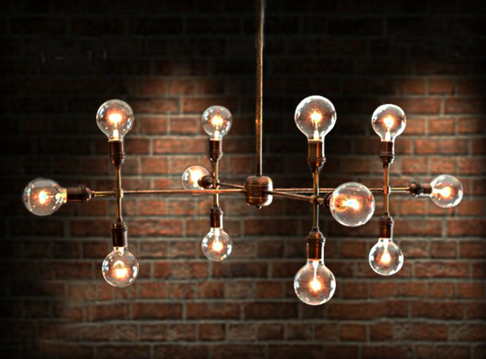 Handmade modern contemporary light sculpture multiple light handmade modern contemporary light sculpture multiple light edison bulb chandelier lamp by retro steam works custommade aloadofball