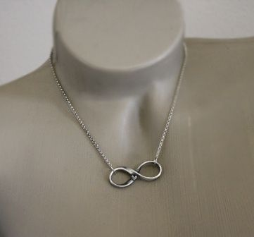 Custom Made Fine Silver - Rustic Infinity Necklace - $120