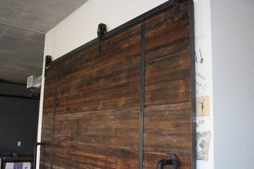 Custom Made The Omega - Reclaimed Oak Sliding Barn Door