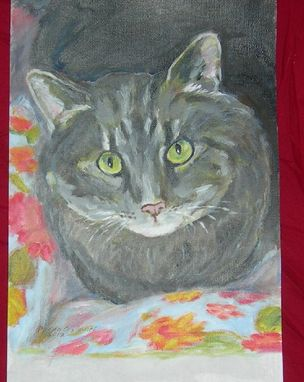 Custom Made Custom Cat Portrait Of Sue Ellen