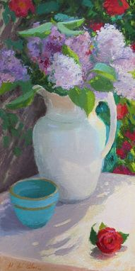 Custom Made Lilacs (Within The Garden)  Oil Painting