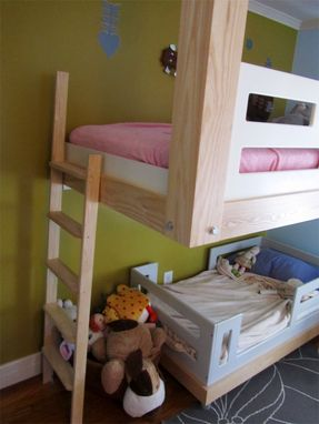 Custom Made Architecural Woodworking : Floating Bunk Bed