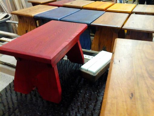 Custom Made Handmade Step Stools (Cherry)