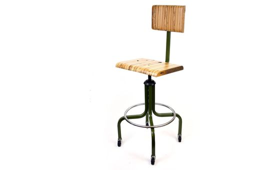 Custom Made 'Second Draft' Stool // Industrial Drafting Chair