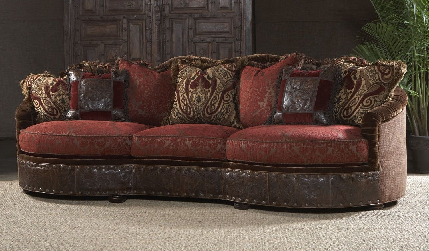 hand crafted luxury furniture sofa couch and decorative pillows by bernadette livingston. Black Bedroom Furniture Sets. Home Design Ideas