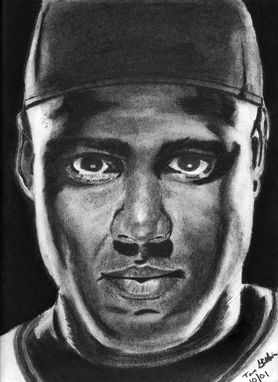 Custom Made Portrait Drawing Of Barry Bonds (1 Subject)