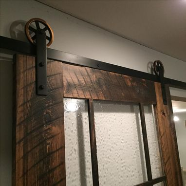 Custom Made Glass Sliding Barn Door
