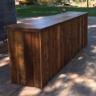 Custom Made Reclaimed Wood Bar - 96""