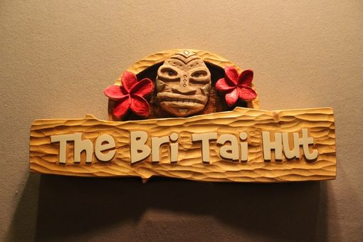 Custom Made Custom Wooden Signs, Carved Wood Signs, Tiki Signs, Tiki Bar Signs, Home Signs, Bar Signs,