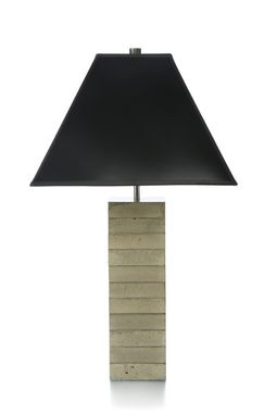 Custom Made Wide Stack Table Lamp
