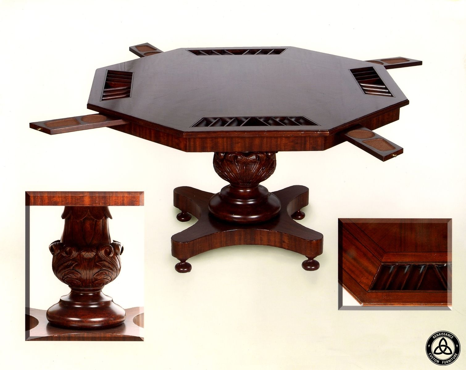 custom 454 poker table by renaissance custom furniture. Black Bedroom Furniture Sets. Home Design Ideas