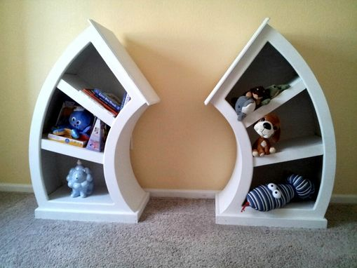 Custom Made Whimsical Curvy Dr Seuss/ Alice In Wonderland Children's Curved Bookshelf Set