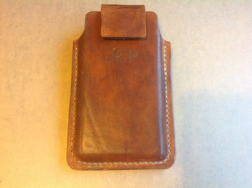 Custom Made Leather Cell Phone Holster For Samsung Galaxy S5 , Can Be Made For Motorola