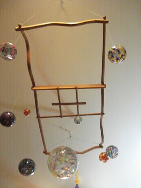 Custom Made Blown Glass Hanging Rack