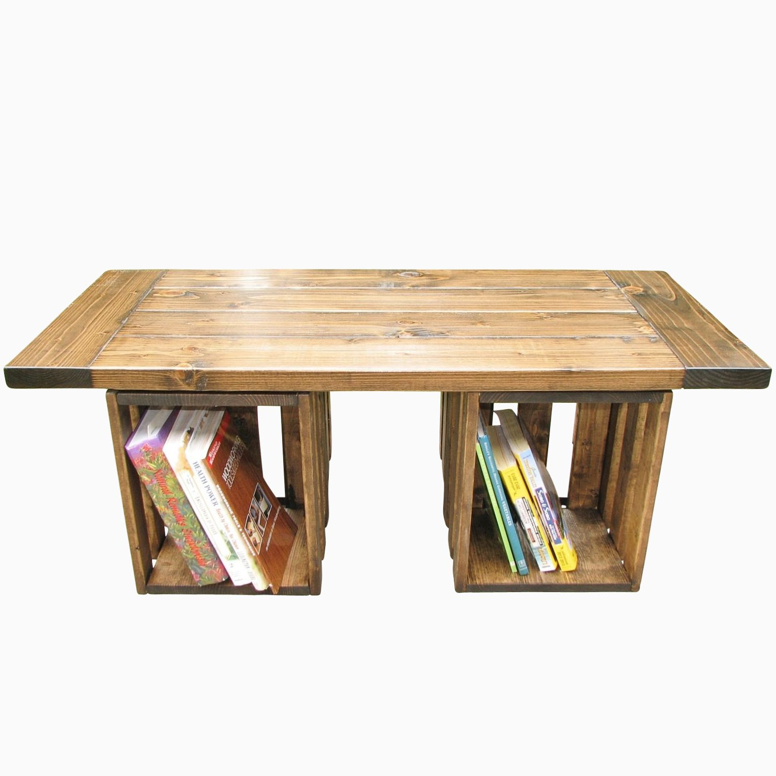 Buy a hand made reclaimed wood farmhouse style coffee table made to order from custom made Farm style coffee tables