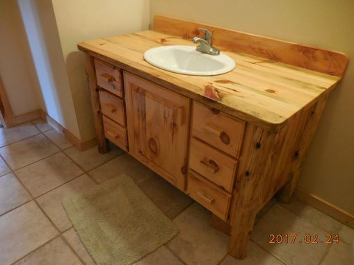 Knotty Pine Bathroom Vanity hand made knotty pine bathroom vanityharry's cabin furniture