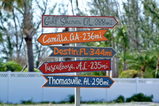 Custom Made Destination Location Mileage Rustic Sign Post