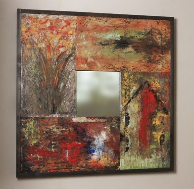 Custom Made Enamel On Wood Art Mirrors
