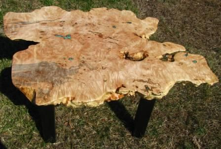 Custom Made Extremely Burled Maple Coffee Table