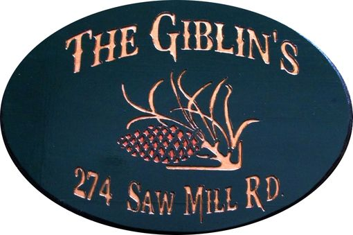 Custom Made Custom Made, Hand Carved House Signs.