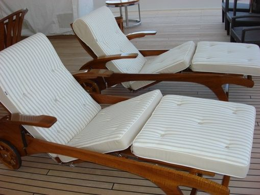 Custom Made Custom Yacht Finished Chaise Loungers