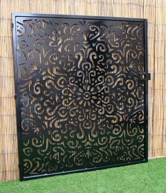 Custom Made Artistic Mandala Gate - Mandala Art Panel - Floral Entryway Gate - Laser Cut Panel