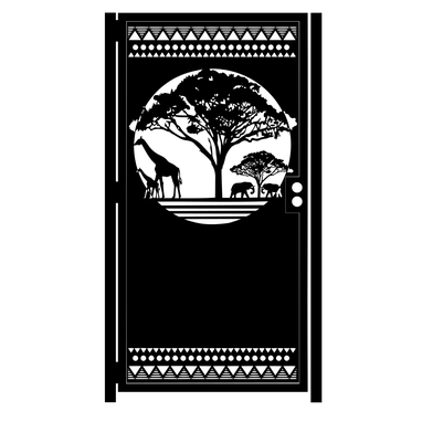 Custom Made African Savannah Artistic Steel Gate - Decorative Steel Panel - Garden Gate - Custom Gate - Handmade
