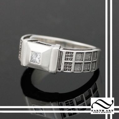 Custom Made Tardis Ring In Sterling Silver