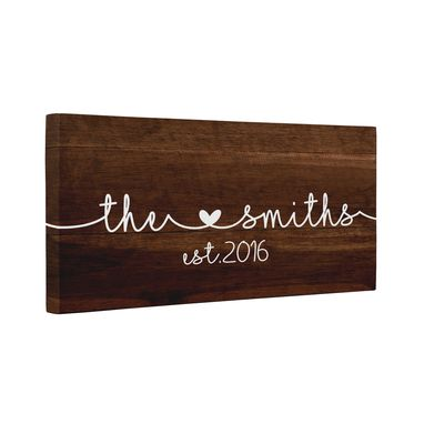 Custom Made Family Est Year Canvas Wall Art