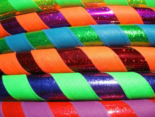 Custom Made Custom Hula Hoop, Low Cost - Single Grip Wrap - Weighted, Collapsible, Travel