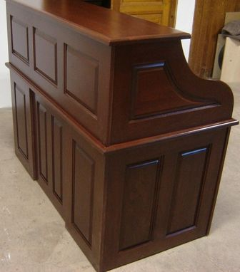 Custom Made New Solid Walnut Wood Roll Top Office | Home Desk With Drawers