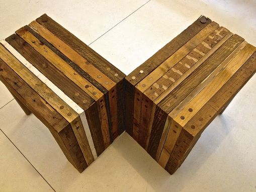Custom Made Reclaimed Wood Side Tables