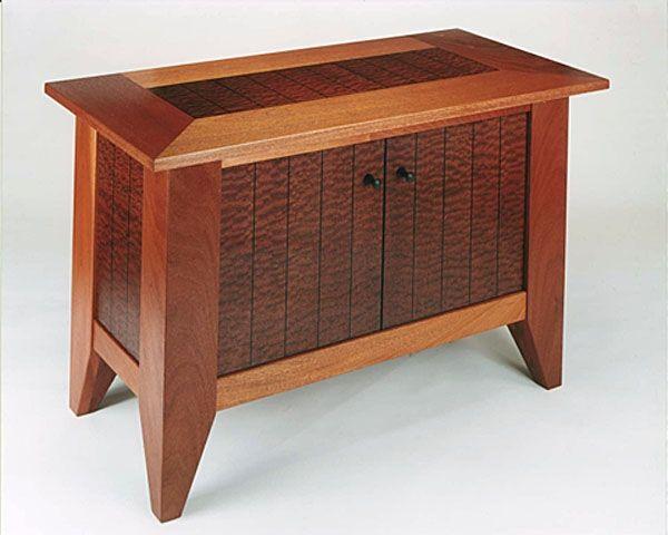 Hand Made Mahogany And Sapele Media Cabinet by Neal Barrett