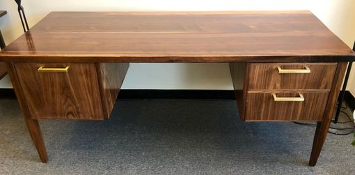 Custom Made Wooden Desks And Office Furniture (Walnut)