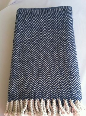 Custom Made Handwoven Chevron Blanket