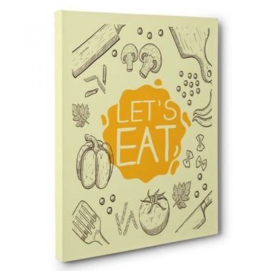 Custom Made Let'S Eat Canvas Wall Art