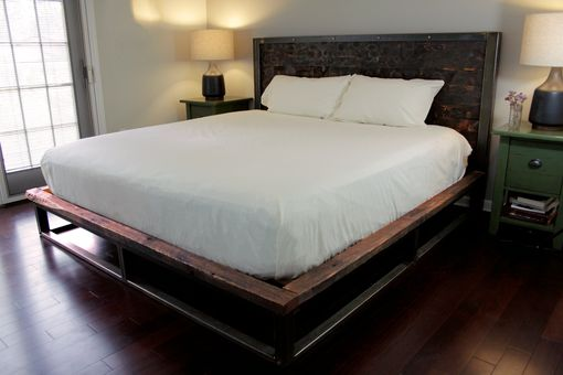 Custom Made Antiqued Steel King Size Bed