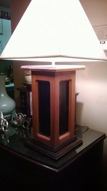 Custom Made Wood Table Lamp