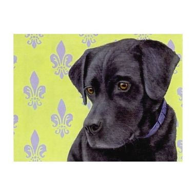Custom Made Black Lab Magnet - Labrador Retriever Magnet - Lab Art - Dog Art